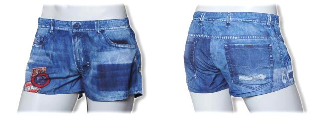 6e8add4535 swim shorts, label DIESEL, solid blue - Swimwear4men.com - Men's ...